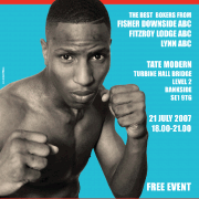 Publicity poster for The Fight. Photo by David Williams